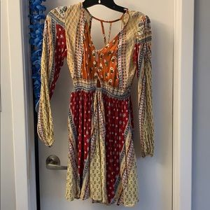 Hippie floral printed dress size XS